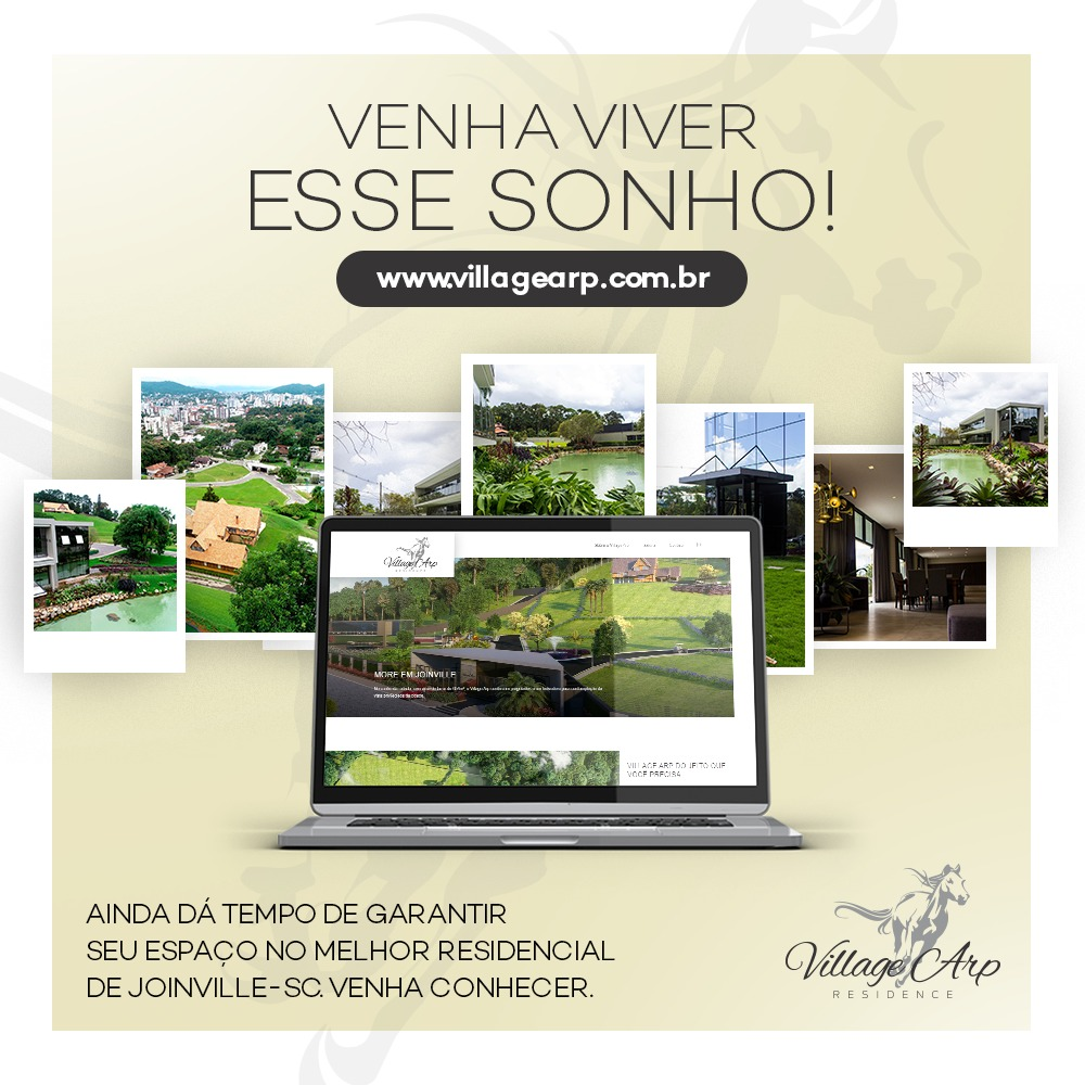 Village Arp: venha viver esse sonho no melhor condomínio de alto padrão de Joinville-SC