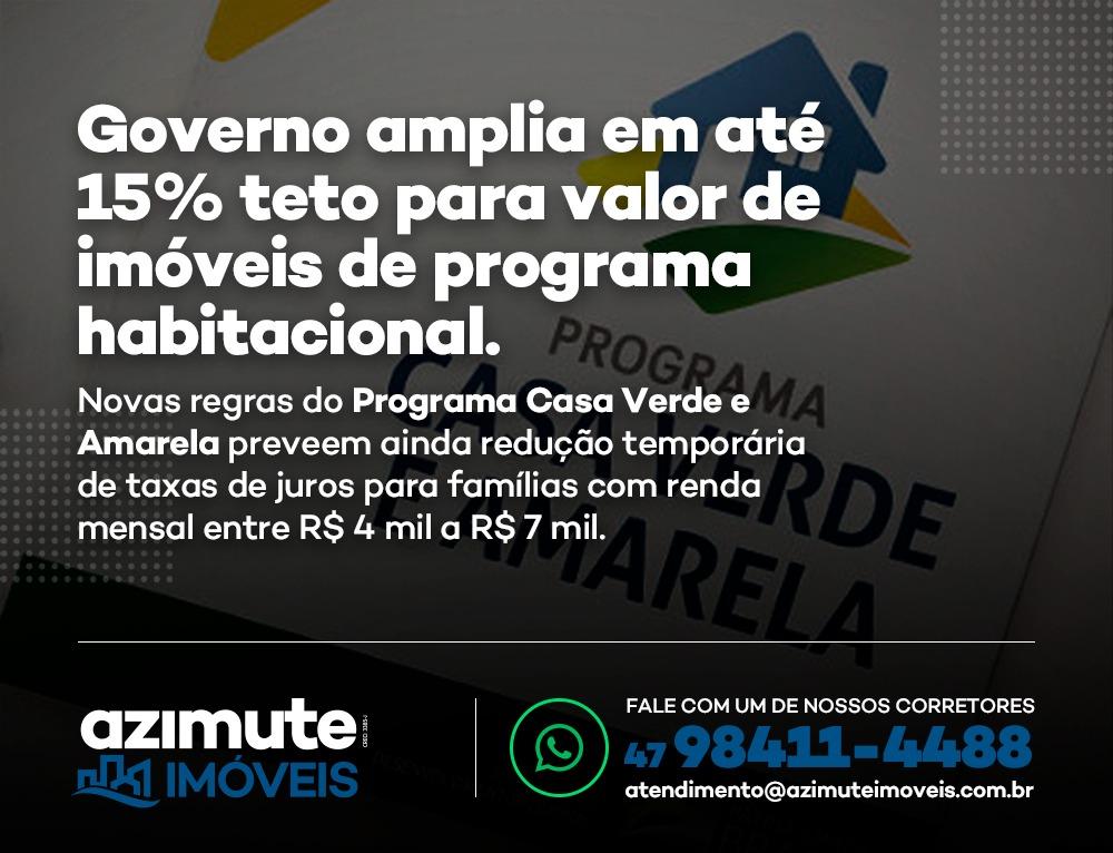 Governo amplia teto para valor de imóveis de programa habitacional em até 15%